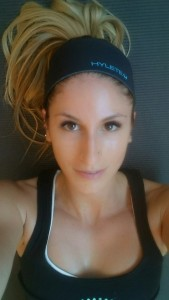 girl post-workout selfie
