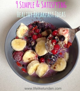 Quinoa Berry Superfood Bowl with text
