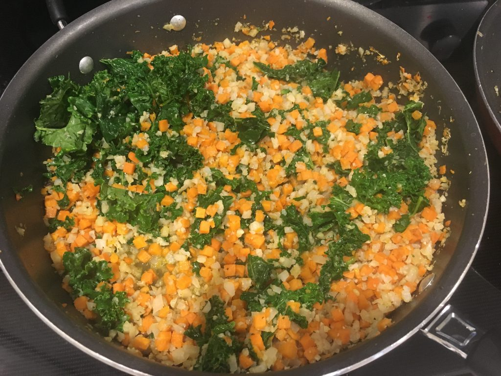 cauliflower rice cooking