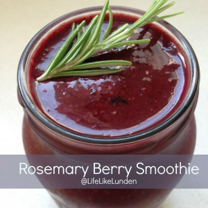 rosemary berry smoothie