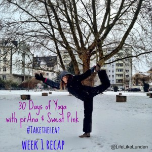 week 1 yoga recap